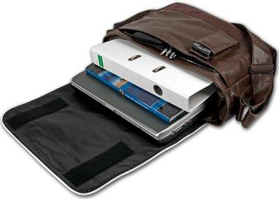 Converse Vintage Patch Messenger Bag Size - open - braun | Messenger-Bags.info