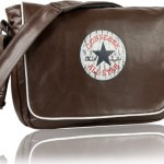 Converse Vintage Patch Messenger Bag Size - open - front site braun | Messenger-Bags.info
