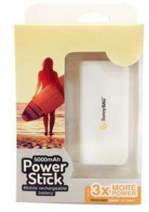 SunnyBAG® 5.000mAh PowerStick Zusatzakku, Powerbank, Akkupack, inkl. Lightning & Micro-USB Kabel - 1