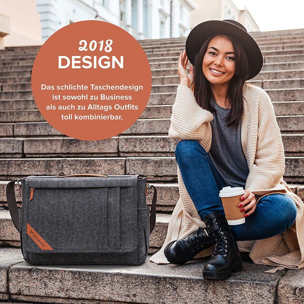 VanLindson Messenger Bag 15.6 Zoll, Design - Messenger-Bags.info