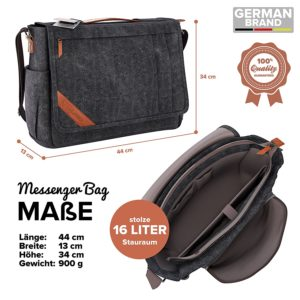 VanLindson Messenger Bag 15.6 Zoll Uebersicht - Messenger-Bags.info