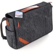 VanLindson Messenger Bag 15.6 Zoll geschlossen - Messenger-Bags.info